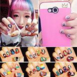 1Pcs Hot Harajuku Monsters University Cartoon 3D Nail Stickers Mao Blame And PoPeyes Manicure Posted 24