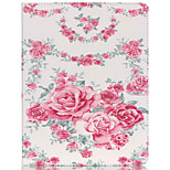 Flowers Pattern PU Leather Case with Stand and Card Holder for iPad Air