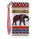New Lanyard  Color Elephant Pattern PU Leather Material Phone Case for Huawei P8 Lite