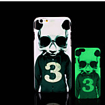 panda patroon glow in the dark hard plastic achterkant voor de iPhone 6 voor iPhone 6s case