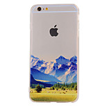 The New Snow Mountain Landscape Pattern Translucent TPU Material Combo Phone Case for iPhone 6/ 6S