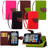 KARZEA™ Leaf Snap PU Full Body Case with TPU Back Cover Stand for Microsoft Lumia N532 (Assorted Colors)