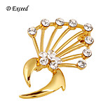 D Exceed New Arrival Gold Plated  Flowers Scarf Wedding Brooch Christmas Pins Crystal Holder Silk Scarf Jewelry