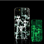 Giraffe Pattern Glow in the Dark Hard Plastic Back Cover for iPhone 5 for iPhone 5s Case