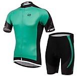 Men's Short Sleeve Cycling Clothing Sets/Suits Pants Breathable / Ultraviolet Resistant /Moisture Green