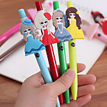 Princess Pattern Black Ink Gel Pen(1 PCS Random Color)