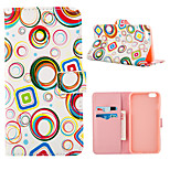 Color Pall Pattern Full Body Case With Card Slot for iPhone 6 Plus/6S Plus