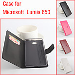 aleta de couro estojo de proteção magnética para Microsoft Lumia 650 (cores sortidas)