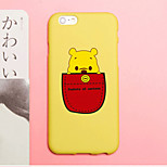 iFashion® Candy Color Yellow Pocket Small Bear Baby Pattern Soft Case for iPhone 6/6s