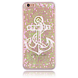 Anchors Pattern PC Material Stereoscopic Love Quicksand Phone Case for iPhone 6 / 6S