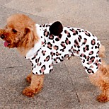 Dog Coats / Hoodies - S / M / L / XL / XXL - Winter - Brown - Leopard / Keep Warm / Fashion - Mixed Material