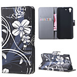 White Flowers PU Magnetic Leather wallet Flip Stand Case cover for Huawei Honor 4A / Y6