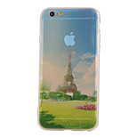 The New Tower Landscape Pattern Translucent TPU Material Combo Phone Case for iPhone 6/ 6S