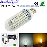 YouOKLight® 1PCS E27 18W 1500lm 138-2835SMD 3000K/6000K High brightness &long life 45,000H LED Light AC110-120V/220-240V