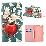 Cherry Pattern Full Body Case With Card Slot for iPhone 6 Plus/6S Plus