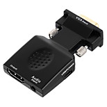 Cwxuan™ VGA + 3.5mm Audio to HDMI HD Video Converter with USB Power Supply Port