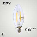 1 kpl gmy e12 2w johti hehkulampun valossa cob ≥200 lm lämmin valkoinen cb10 kirkas koristekynttilä sipulit ac 110-130v 2700k