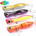 Mizugiwa 1Pcs Fishing Wood Lure Top Water Big Game 100g 200mm Surface Bull Tuna Popping Lures GT Offshore Popper