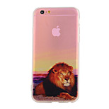The New Lion Pattern Translucent TPU Material Combo Phone Case for iPhone 6/ 6S