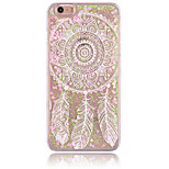 Campanula Feather Pattern PC Material Stereoscopic Love Quicksand Phone Case for iPhone 6 / 6S