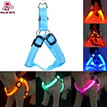 FUN OF PETS® LED Nylon Pet Dog Cat Collar Peppy Dog Led Flashing Light Harness Collar Pet Safety Led Leash Rope Belt