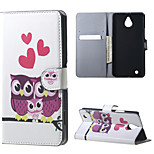 Adorable Owls and Hearts  Magnetic PU Leather wallet Flip Stand Case cover for Nokia Microsoft Lumia 850