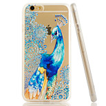 Peacock Embossment Dull Polish Side + Transparent TPU Soft Phone Case for iPhone 6/6S
