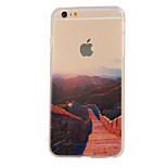 The New Great Wall Landscape Pattern Translucent TPU Material Combo Phone Case for iPhone 6/ 6S
