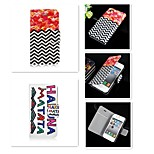 Broken Line The Letter Pattern PU Leather Full Body Case for iPhone 4/4S