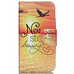 Sunrise Painted PU Phone Case for Wiko Rainbow Up