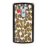 Golden and Red Heart Design Metal Hard Case for LG L90/ G3/ G4