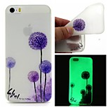 Purple Dandelion Luminous Dream Catcher Pattern Sofe TPU Case for iPhone 5/5S
