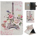 Paris Tower Coloured Drawing or Pattern PU Leather Folio Case Tablet Holster for iPad Mini 3/2/1