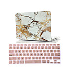 2 in 1 Marble Rubberized Hard Case Cover +Keyboard Cover for Macbook Air 11