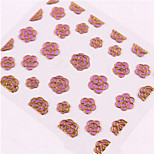 4pcs Camellia Nail Stickers Random Color