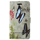 Butterfly Painted PU Phone Case for iphone5/5S