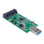Cwxuan® Mini PCI-E mSATA to USB 3.0 External SSD PCBA Conveter Adapter Card without Case