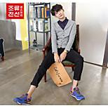 CELUCASN Men's Round Neck Long Sleeve Sweater & Cardigan Blue - P5QOZ153G0102