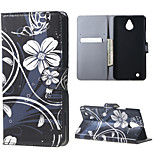 White Flowers Magnetic Leather wallet Flip Stand Case cover for Nokia Microsoft Lumia 850