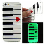 Love Piano Pattern TPU  Luminous Phone Case For  iPhone 6 /6S