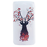 Deer Embossment Dull Polish Frame + Transparent TPU Soft Phone Case for LG G3/G4