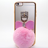 Diamond Plating Bowknot TPU Back Case For Iphone6,6S(Assorted Color)