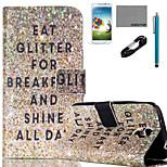 coco modello fun® polvere pu flim cavo custodia in pelle e lo stilo per mini Samsung Galaxy S4 / S4 / S5 / s5 mini / S6 / bordo S6