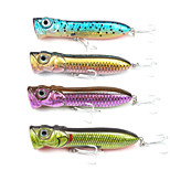 Mizugiwa Bass Pike Fishing Lure Hard Bait Walleye Crappie Tackle Top Water Surface 30g 110mm Pack of 4