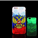 Flag Pattern Glow in the Dark Hard Plastic Back Cover for iPhone 6 for iPhone 6s Case