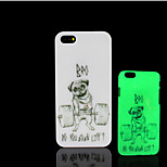 Pug Dog Pattern Glow in the Dark Hard Plastic Back Cover for iPhone 5 for iPhone 5s Case