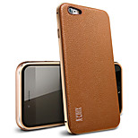 The Following Case Metal Frame Leather Back Cover Not Luxury Anti-throw Applies To Fade Iphone6 Plus / 6 s Plus