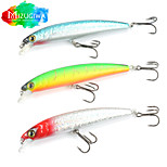 Mizugiwa 1Pcs Bass Fishing Lure Plastic Crank Bait Floating Minnow 18.5g 125mm