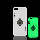 Poker Pattern Glow in the Dark Hard Plastic Back Cover for iPhone 5 for iPhone 5s Case