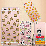 MAYCARI®Collecion of Emoji Soft Transparent TPU Back Case for iPhone 6 Plus/6S Plus(Assorted Colors)